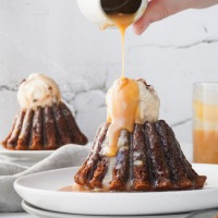 Sticky Date & Fig Pudding with Butter Scotch Sauce